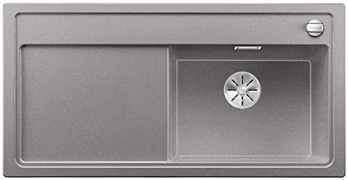 Blanco Zenar XL 6 S-F SILGRANIT® PuraDur® mit Ablauffernbedienung, Becken rechts o. Zub. (Farbe: alumetallic)