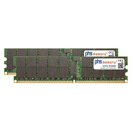 PHS-memory 4GB (2x2GB) Kit RAM Speicher für Lenovo System x3850 (8863) DDR2 RDIMM 400MHz PC2-3200R