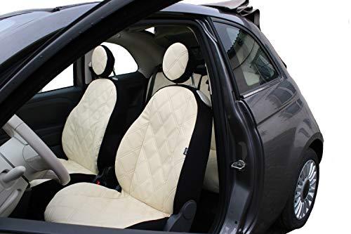 Z4L Sitzbezüge VIP Passgenau geeignet für FIAT 500 - BEIGE EIN Set