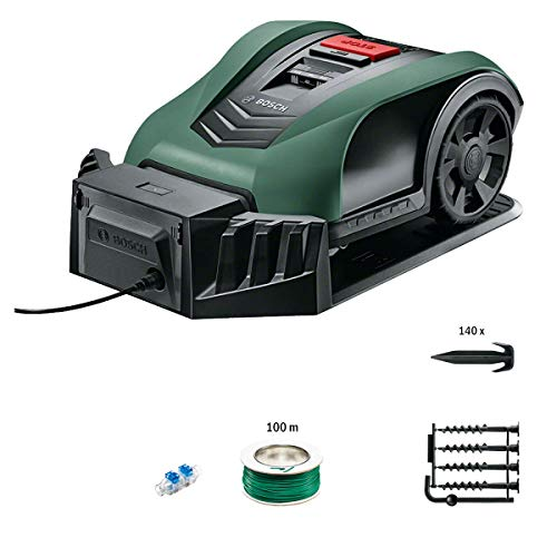 Bosch 06008B0100 Robotic Lawnmower Indego S+ 350 (with App Function, 19 cm Cutting Width, for Lawns...