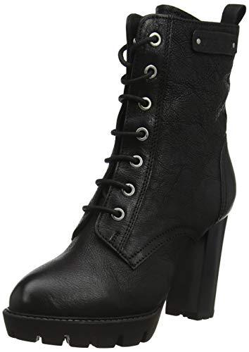 Pepe Jeans London Damen Vernon Laces Stiefeletten, Schwarz (Black 999), 38 EU