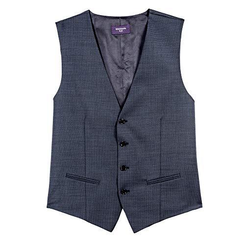 Benvenuto Purple - Slim Fit - Herren Baukasten Weste für Jungen Trend-Anzug mit sehr schlankem Schnitt in Dunkelblau, Dante (20716, Modell: 61367), Größe:46, Farbe:Dunkelblau (1254)