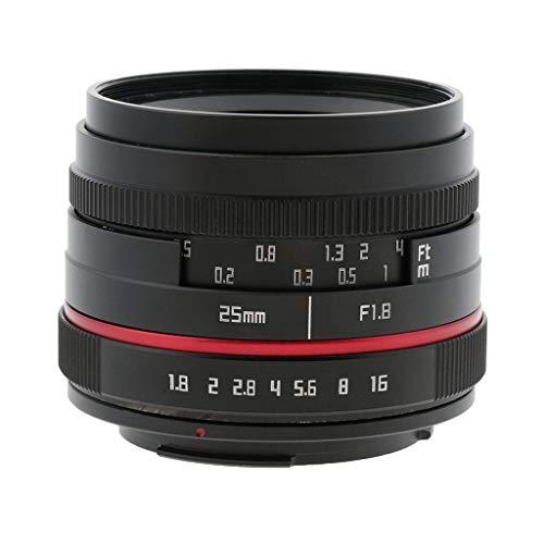D DOLITY Objetivo, 25mm f1.8Fijo Focal Enfoque Manual, Gran Angular, Foto de Objetivo para Canon EOS M Cámara sin Espejo