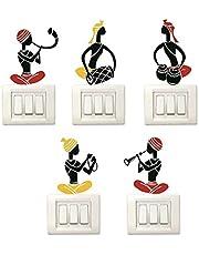 Decor Kafe Set of 5 Switch Board Colorful Wall Sticker Modern Art Stickers