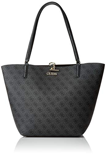 Guess Damen Alby Toggle Tote Bag, Coal/Black, Size One