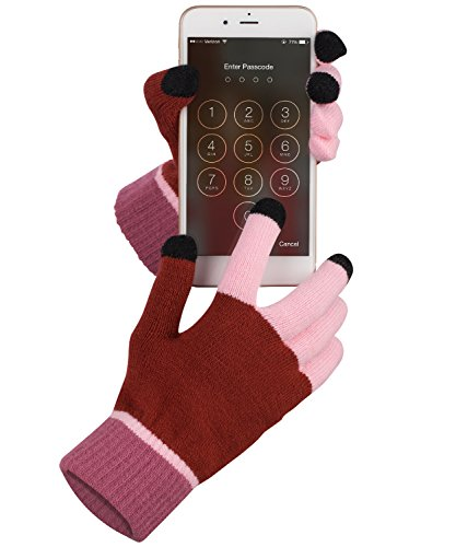 Price comparison product image Fosmon Unisex Touch Screen Winter Gloves with Three Conductive Fingertips