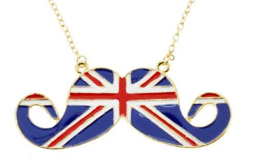 british mustache necklace - 3