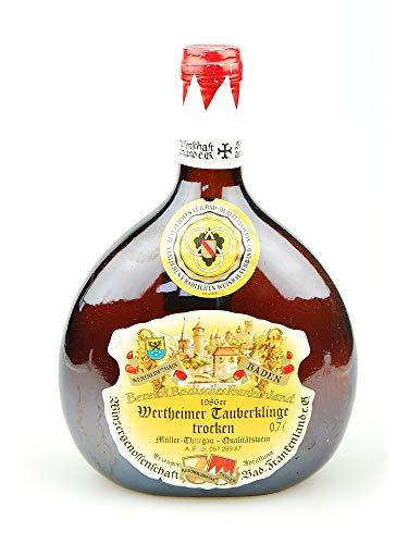 Wein 1986 Wertheimer Tauberklinge Müller-Thurgau trocken