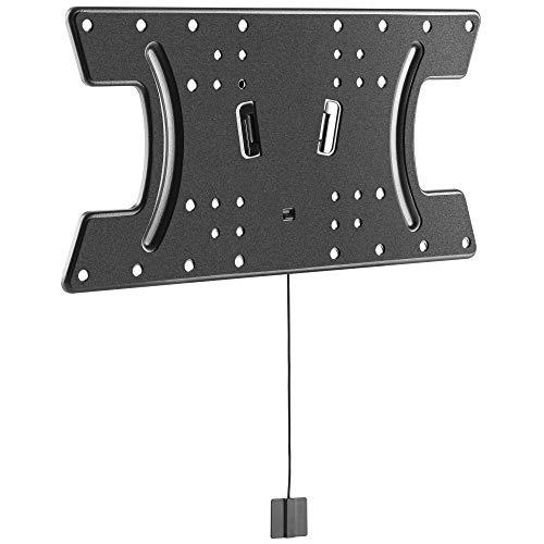 RICOO TV Wandhalterung Super Flach F3042 für OLED Bildschirme mit 32-65 Zoll (ca. 81-165cm) Wand-Halter Fernseh-Halterung mit max VESA-Norm 400x200 Ultra Slim Fernseher-Aufhängung in Schwarz