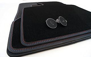Fußmatten E70 Velours M Edition Doppelnaht Rot/Blau Premium Automatten 4 teilig
