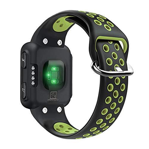 KINOEHOO Correas para relojes Compatible con Garmin Forerunner 35 Pulseras de repuesto.Correas para relojesde siliCompatible cona.