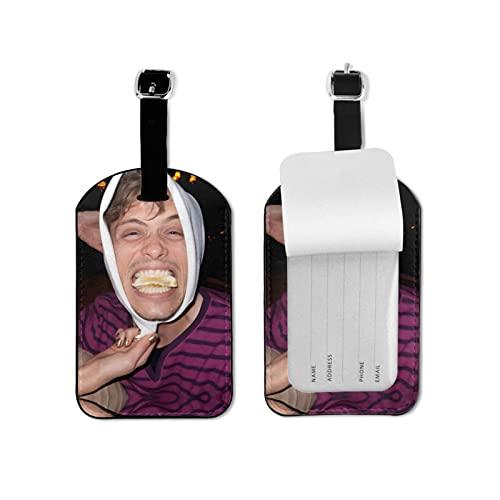Matthew gris Guble equipaje Etiquetas maleta titular tarjeta etiqueta nombre dirección ID bolsa etiqueta microfibra pu cuero 2.7* 4.3 pulgadas
