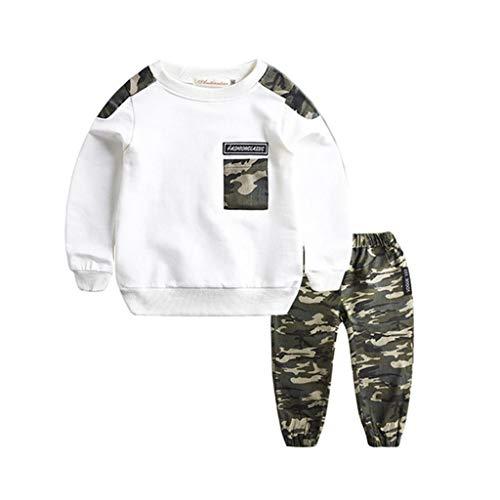 Julhold tiener kinderen baby jongens eenvoudige casual brief trainingspak camouflage tops houden katoen broek 2 stks outfits set 1-11 jaar