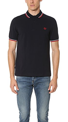 Fred Perry M3600-471-l Polo, Blu (Navy/White 471), Large Uomo