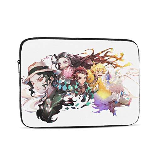 Demon Slayer Kimetsu no Yaiba Waterproof Computer Bag Case Laptop Tablet Tote Travel Briefcase 15 inch Black