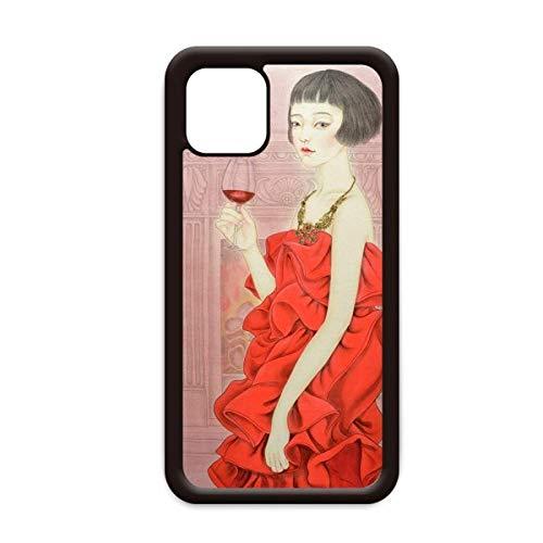 Rode jurk Beauty Chinese Schilderij voor Apple iPhone 11 Pro Max Cover Apple mobiele telefoonhoesje Shell, for iPhone11 Pro