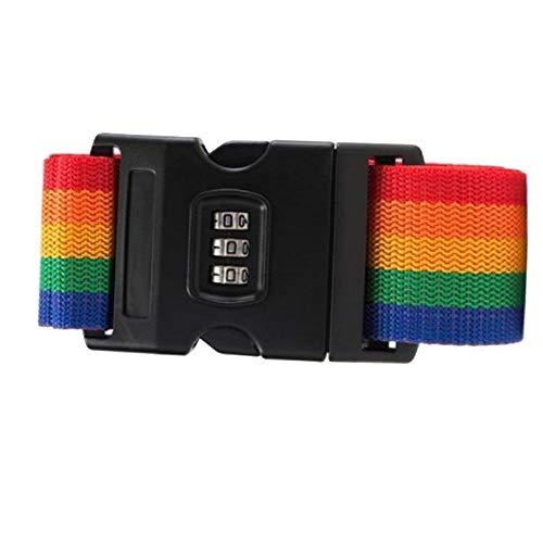 MERSSAVO Gepäckgurte Rucksack Safe-Belt Secure Verstellbares PP mit Codeschloss