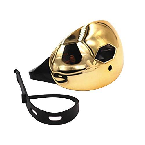 ZY Rugby-Mund-Schutz-Gummi-Schild Doppelter Schutz mit belüftete Fall Beruf Sport Zahnschutz für Puck Hockey und Anderen Kontakt und Kampfsport,Gold