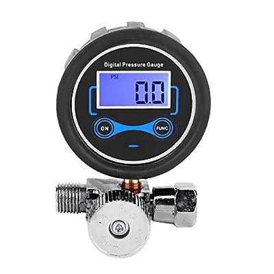 Air Flow Control Valve Digital Air Pressure Regulator Air Compressor Regulator Air Filter Pressure Gauge Regulating 1/4in for Spray Gun by Terisass