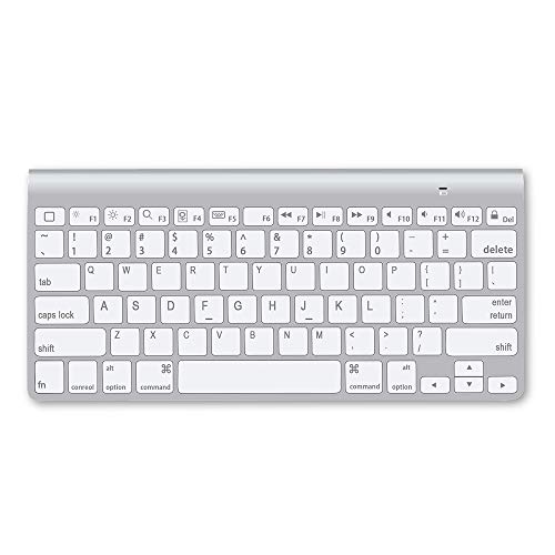 Wireless Bluetooth Keyboard, Ultra-Slim Portable Mute Wireless Kyeboard Compatible for iPad, iPhone, MacBook, Android, Windows, iOS, Mac OS and Other Bluetooth Enabled Devices (Wireless Keyboard)