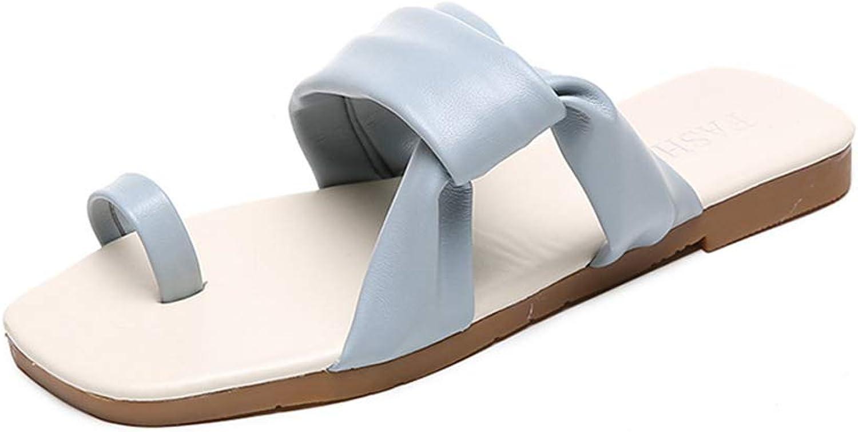 PARTyu Women's Summer Artificial PU Casual Cushioning Low Heel Sandals