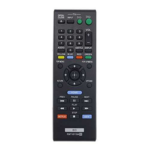 Aurabeam RMT-B119A Replacement Blu-ray Remote Control for Sony BD Bluray Player (RMTB119A / 149002711)