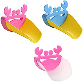 3Pcs Toddler Faucet Extender, Woreach Cute Bathroom Sink Handle Extender Baby Faucet Cover, Safe Fun Hand-Washing Solution for Babies, Toddlers, Kids, Teach Your Kids Good Sanitation Habits