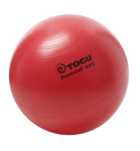 Togu Gymnastikball Powerball ABS mit DVD (Berstsicher), rot, 65 cm