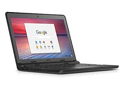 "DELL Chromebook 3120 Black 11.6"" 1366 x 768 pixels Intel Celeron N2840 2GB RAM DDR3L 16GB eMMC SSD Chrome OS (Renewed)"