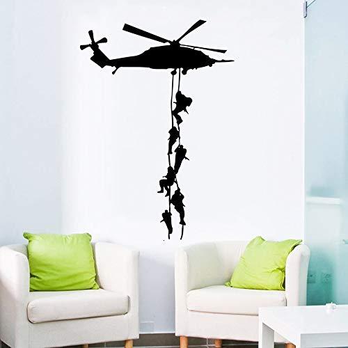 hroom citaat muurstickers canvas, militaire vinyl decoratieve muursticker helikopter behang jongen leger kamer art deco verwijderbare wal77x55cm