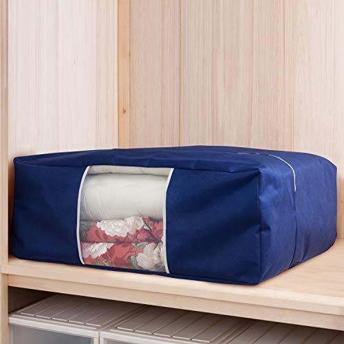 『アストロ 収納ケース 布団一式用(掛け・敷き布団各1枚) ネイビー 羽毛布団 収納袋 不織布 177-06』の5枚目の画像