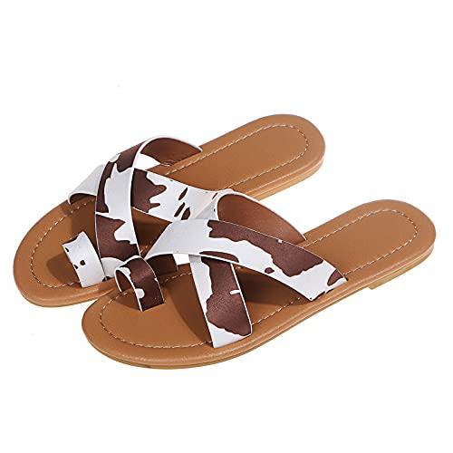 GEU - Zapatos de mujer de moda elegantes suaves y ligeros para piscinas de playa, sandalias de verano, antideslizantes, para interiores