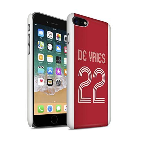 Stuff4 Telefoonhoesje/Cover/Skin/IP-3DSWG / Aangepaste Euro Football Club Shirt Kit Collectie Apple iPhone SE 2020 Rood Wit