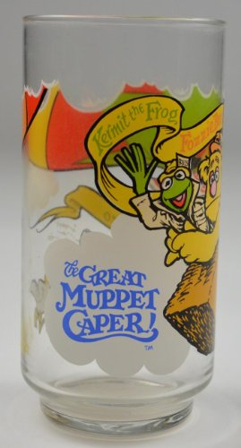 McDonald's 1981 Vintage Kermit, Fozzie, and Gonzo Great Muppet Caper Glass