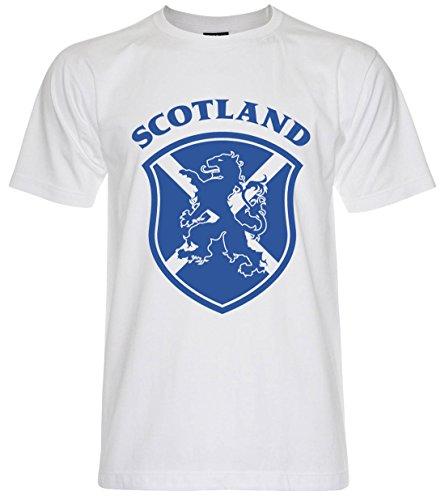 PALLAS Unisex's Lion Rampant Scotland T-Shirt -PA359 (White,M)