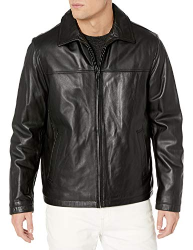 Leather Jacket Men Black