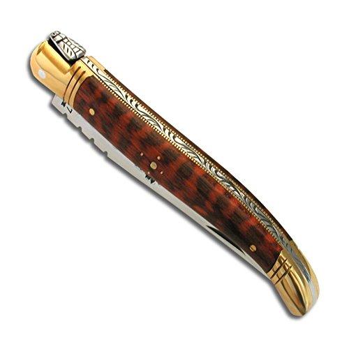 Laguiole Actiforge Taschenmesser, Liebesholz, französische Handwerkskunst, 9 cm