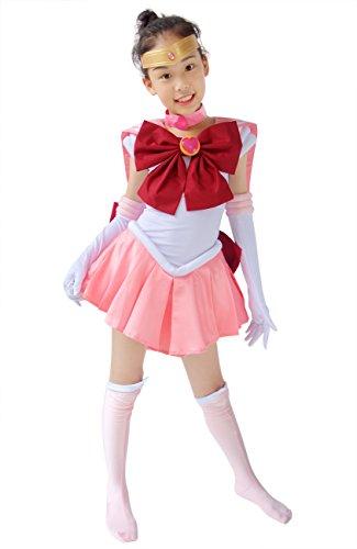 DAZCOS Child Size Pink Chibi USA Small Kids Cosplay Costume (Small)