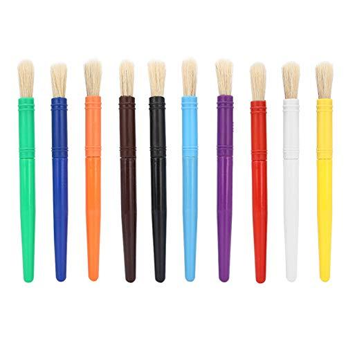 Pincel de dibujo Pinceles de artista Juego de pinceles de pintura de color caramelo Suministros de arte Adultos(Round and flat)