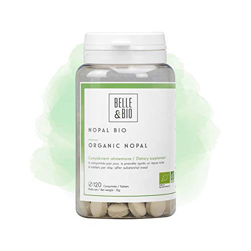 Belle&Bio - Nopal Bio - 120 comprimés - 2400 mg/jour - Brûleur - Capteur - Certifié Bio par Ecocert - Fabriqué en France