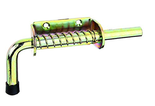 Gah-Alberts 204495 - Pestillo con muelle sin cierre (85 x 40 mm, pasador de 14 x 160 mm, galvanizado dorado)