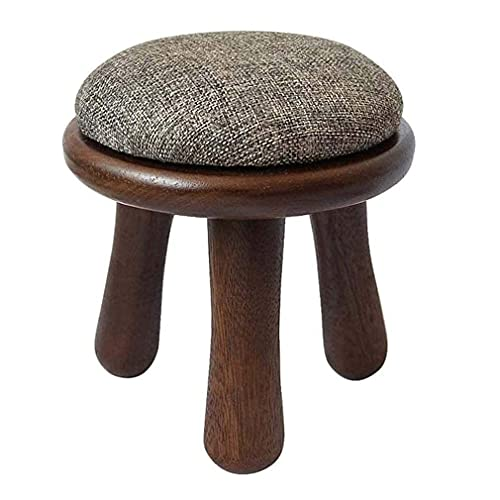 YQG Foot Rest Stool Round, Small Ottomans Foot Stool with Legs, Change Shoes Stool Bedroom Stool, Footrest with Padded Foam Seat - 25 * 34cm(10 * 13.3 In)