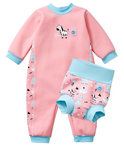 Splash About Warm in One Baby Wetsuit and Matching New Improved Happy Nappy