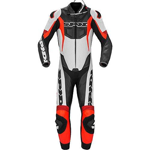 Spidi Sport Warrior Pr Abito perforato in moto ciclabile Nero/Rosso 50