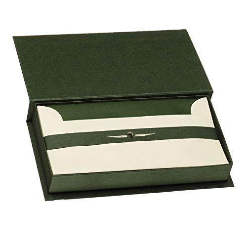 Rössler 1056831008 - Paper Royal - Kartenkassette DL/DL, 15/15, grün/chamois