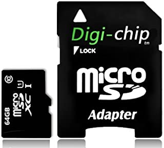 Digi-Chip 64GB Micro-SD Memory Card UHS-1 Class 10. Made with Samsung high speed memory chips. For HTC Desire 610, 816 & HTC Desire Eye cell phones.