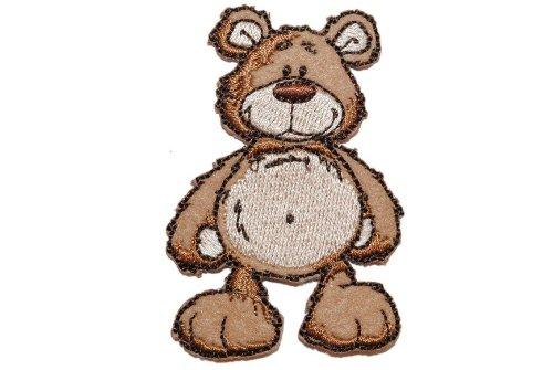 alles-meine.de GmbH NICI Classic Bär 4,8 cm * 7 cm Bügelbild Aufnäher Applikation Teddybär Teddy Dunkelbraun Tier Tiere