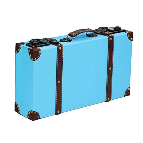 [Agree With(アグリーウィズ)] トランクケース アンティーク調 スーツケース モダン レトロ ヴィンテージ 旅行 トラベル インテリア 鞄 クリーム 大容量 人気 トランク 小旅行 収納 持ち手 可愛い レッスンバック アンティーク アクセサリ