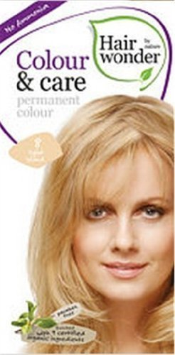Colour and Care- 8 Light Blonde 3.50 Ounces by Hair Wonder by Nature