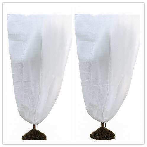 Sacs de protection de veste d'arbuste de couverture végétale, couverture de protection contre le gel d'hiver de protection des plantes d'hiver pour la barrière 60gsm d'insecte d'insecte (white 2pack)